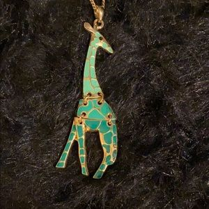 Turquoise Giraffe Necklace